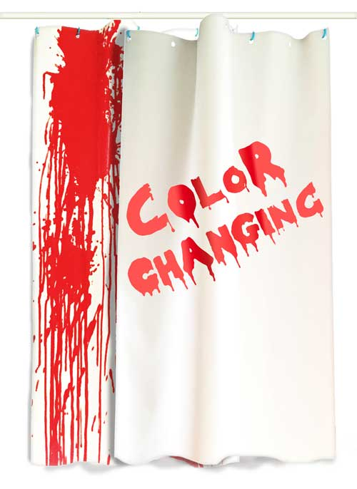 Color Changing Shower Curtain